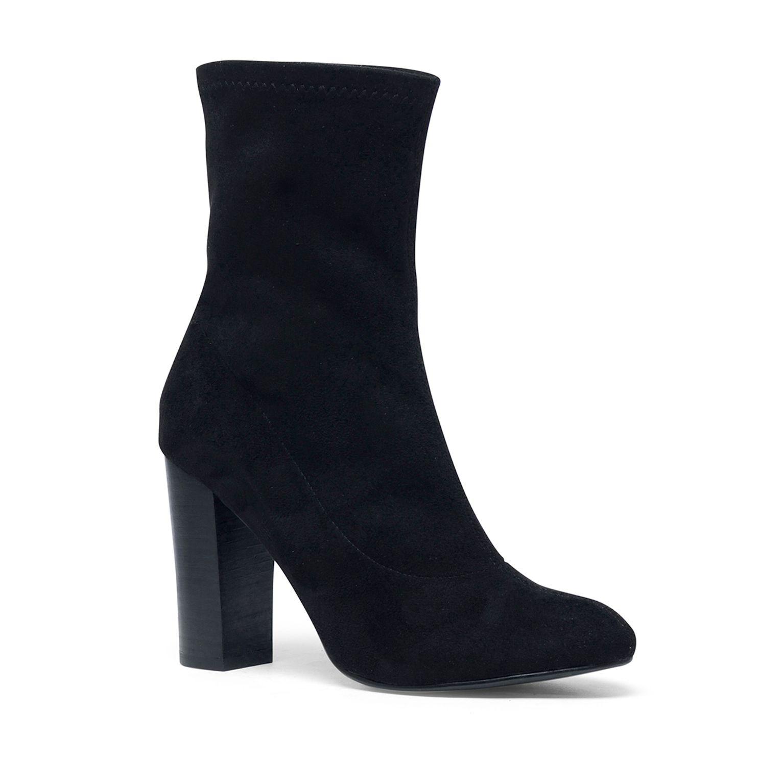 schwarze stiefel mit absatz damenschuhe