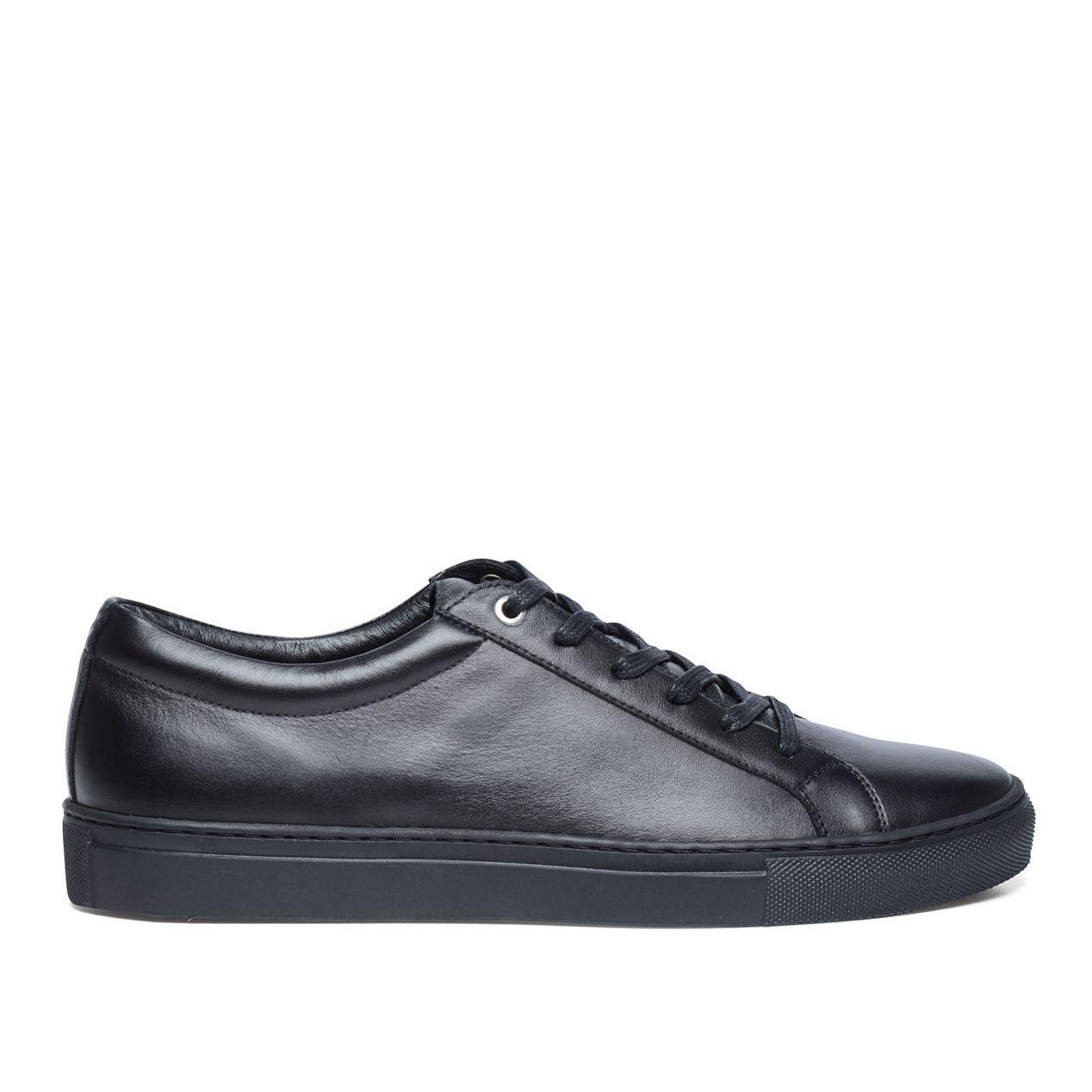 Zwarte Leren Schoudertassen : Zwarte leren sneakers herenschoenen sacha be