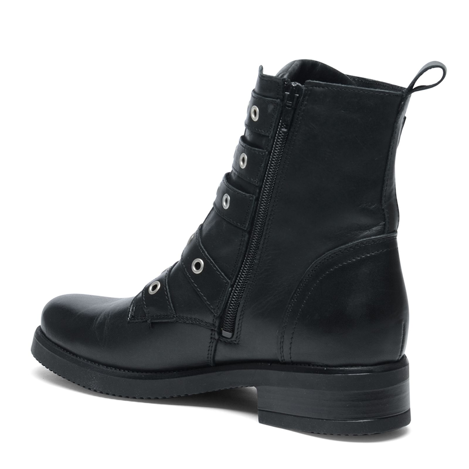 schwarze biker boots damenschuhe. Black Bedroom Furniture Sets. Home Design Ideas