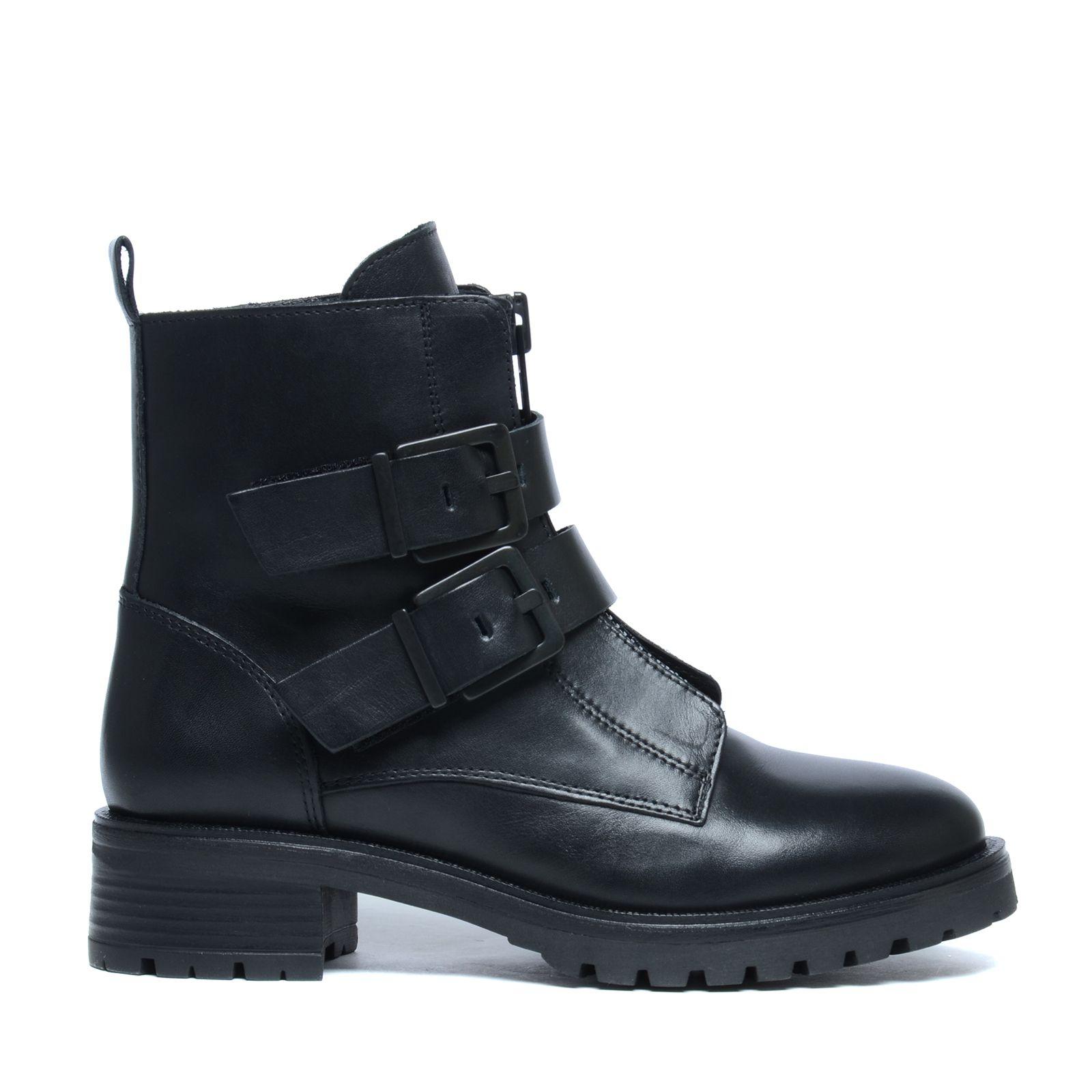 biker boots mit schnallen damenschuhe