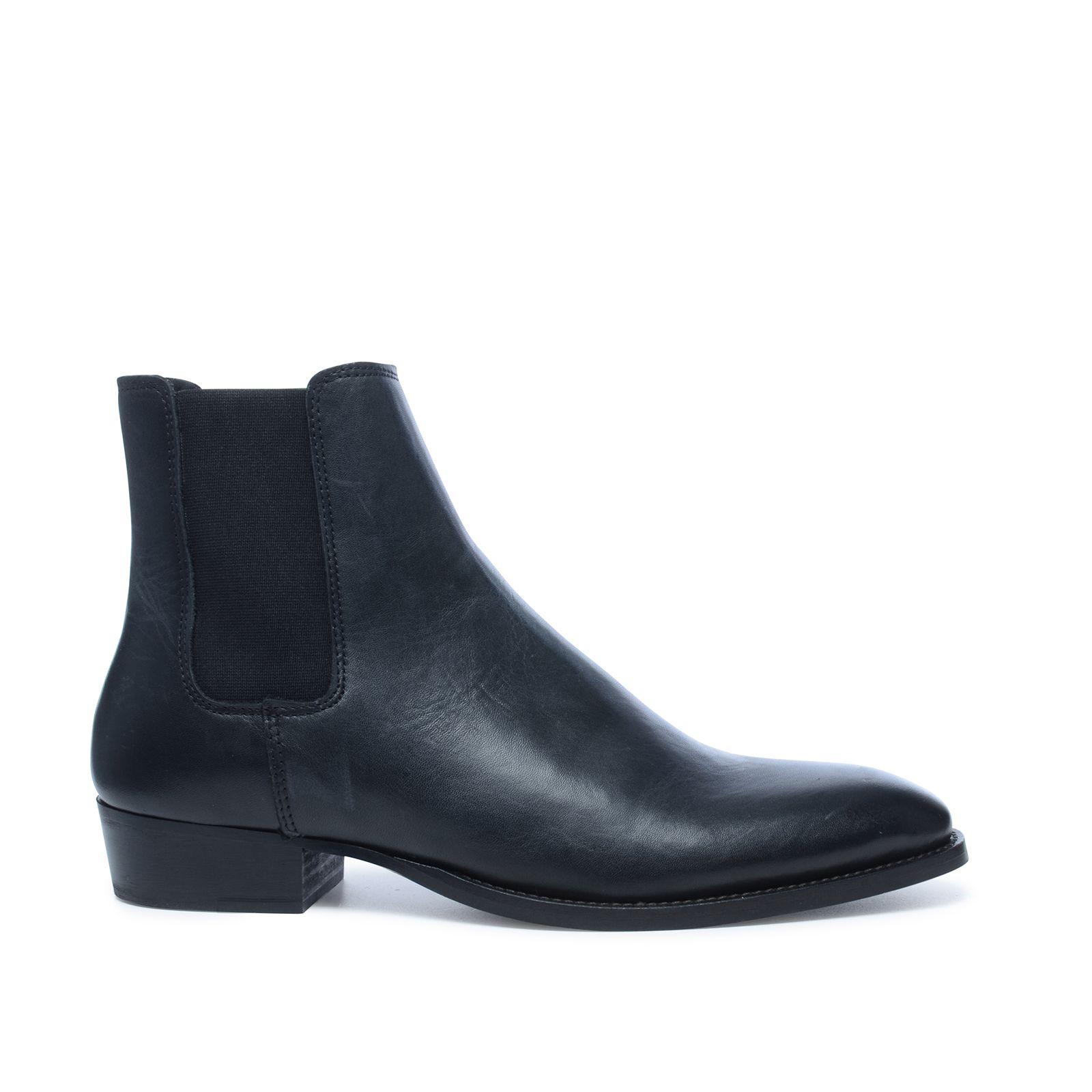 spitze schwarze chelsea boots herrenschuhe. Black Bedroom Furniture Sets. Home Design Ideas