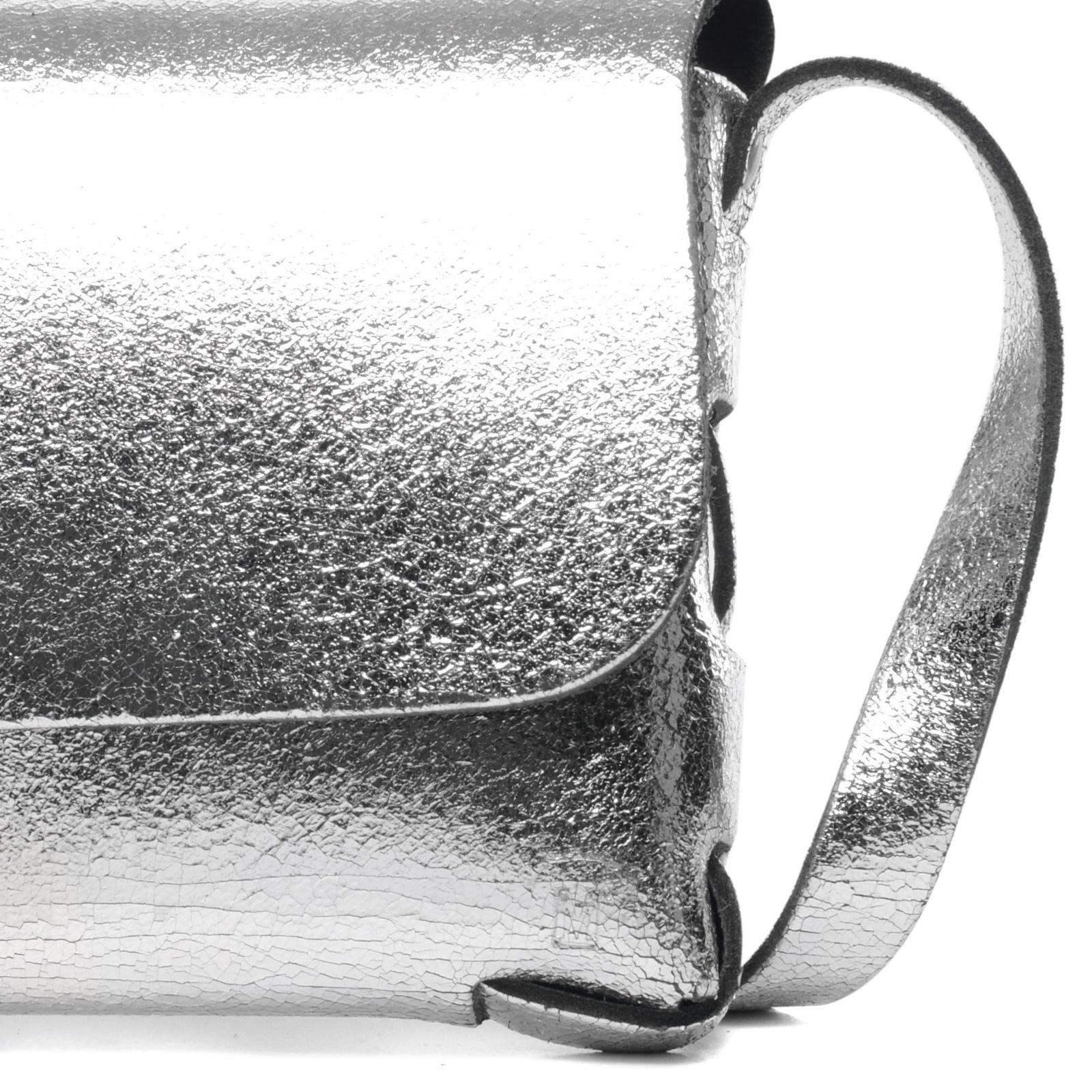 Schoudertasje man : Zilverkleurig schoudertasje tassen manfield