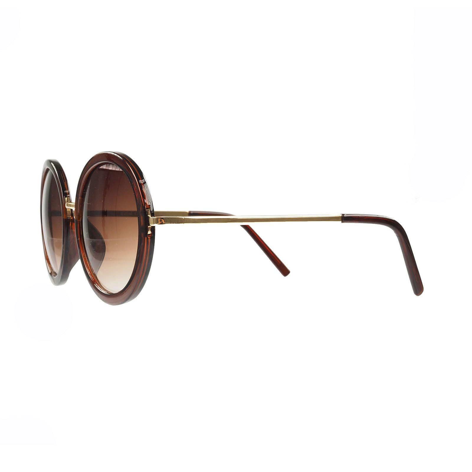 sonnenbrille mit grossen runden gl sern braun accessoires 5. Black Bedroom Furniture Sets. Home Design Ideas