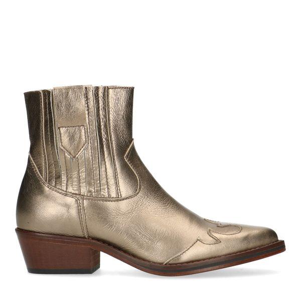 Manfield Gouden leren western boots