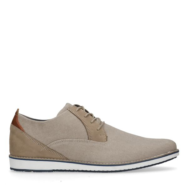 Beige casual veterschoenen