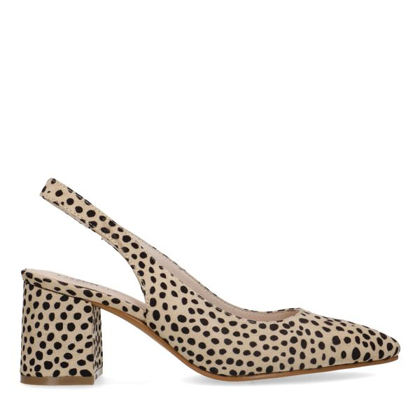 Cheetahprint slingback pumps