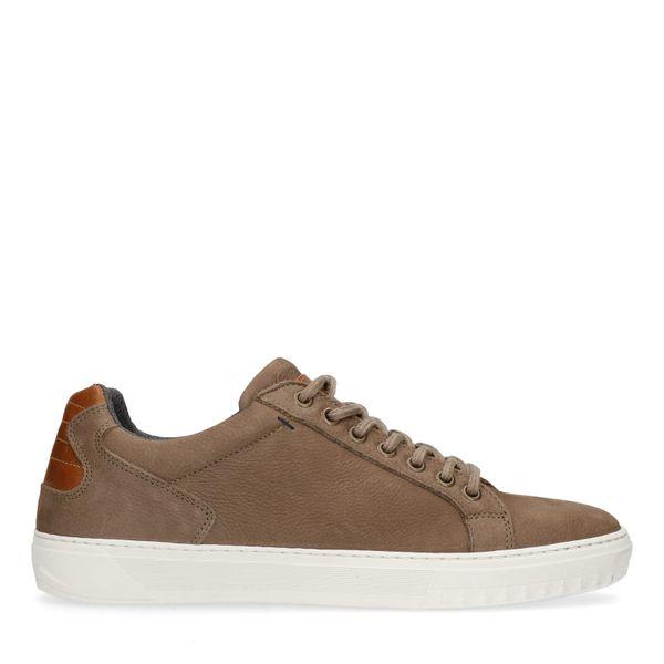 Bruine leren sneakers