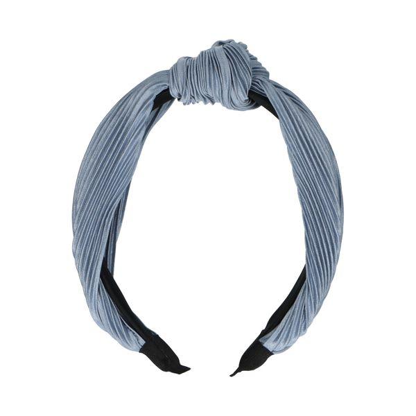 Blauwe plissé haarband