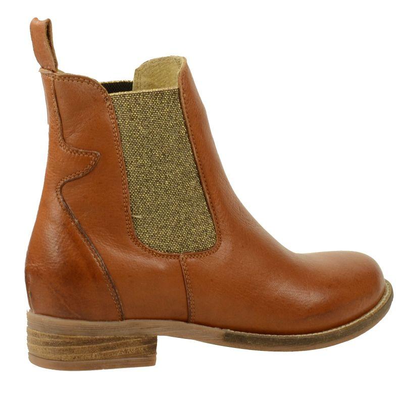 Chelsea-Boots Glitter - cognac