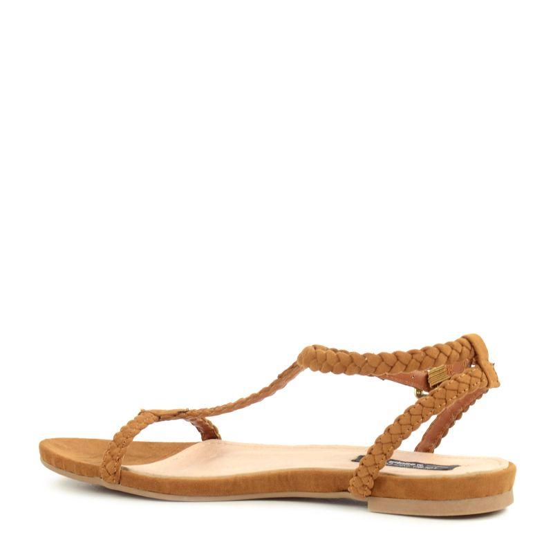 Bruine minimal sandalen