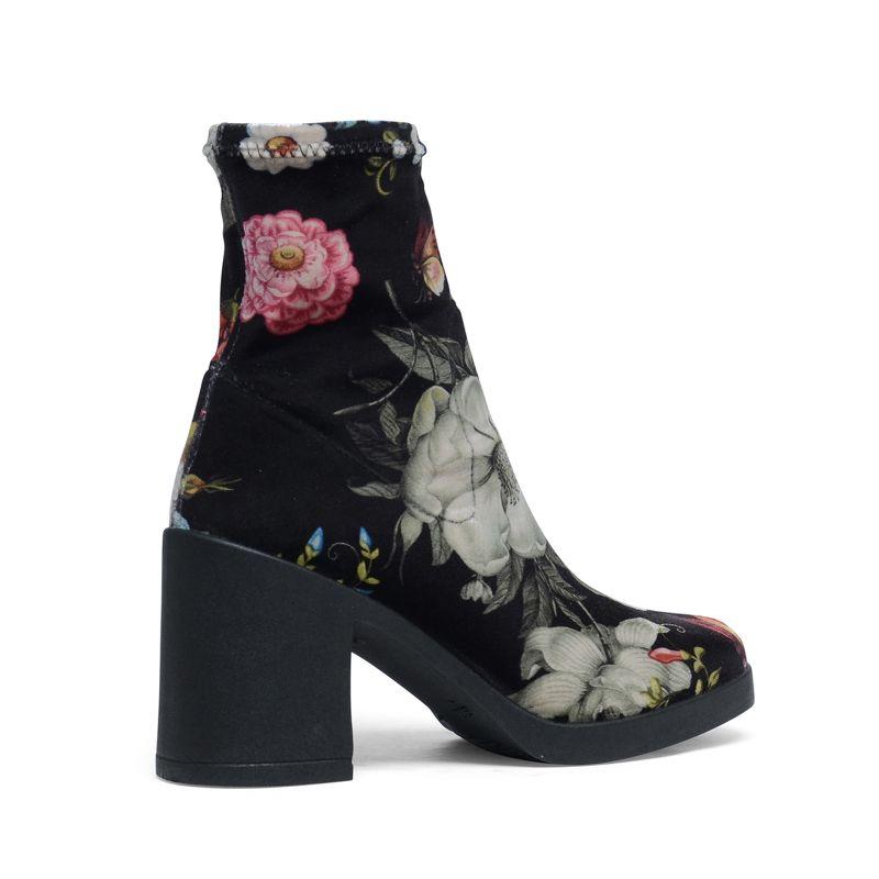 Korte laarzen met bloemenprint