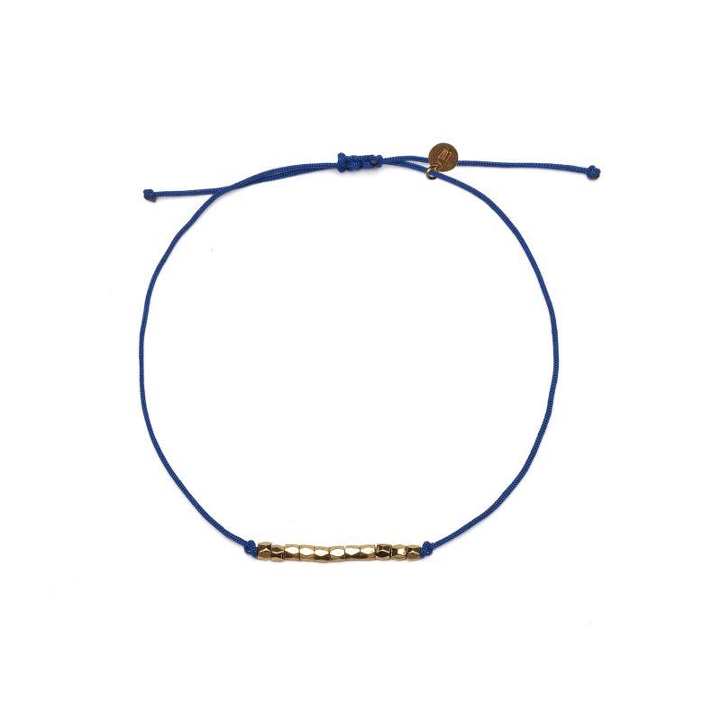 LUZ - friendship rope armbandje blauw