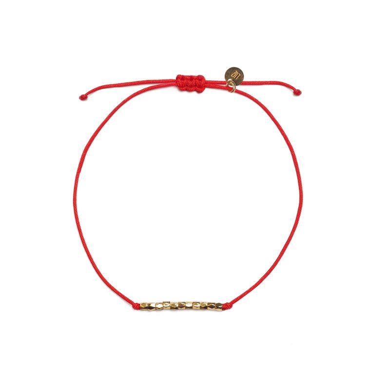 LUZ - friendship rope armbandje rood
