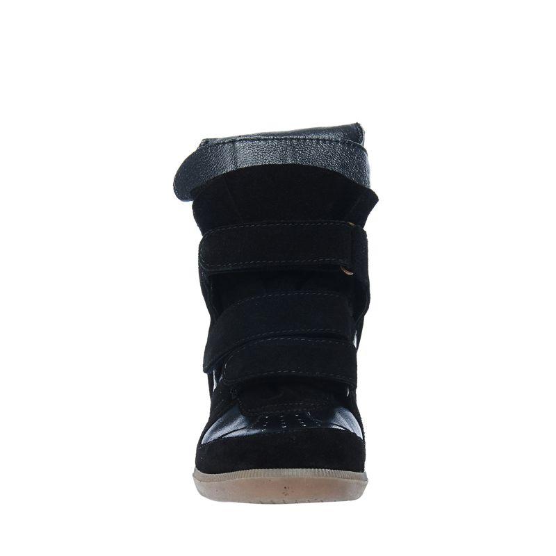 Zwarte wedges met klittenband
