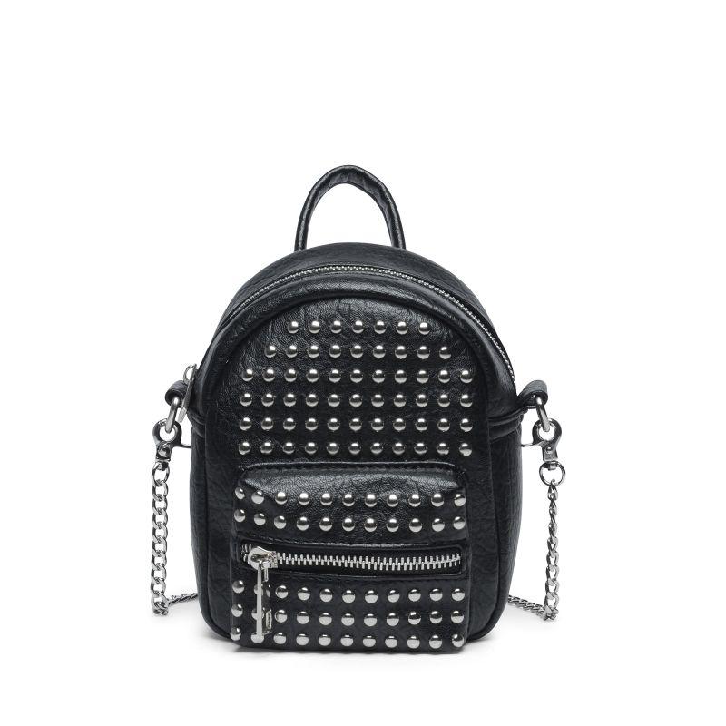 Zwarte crossbody bag met studs
