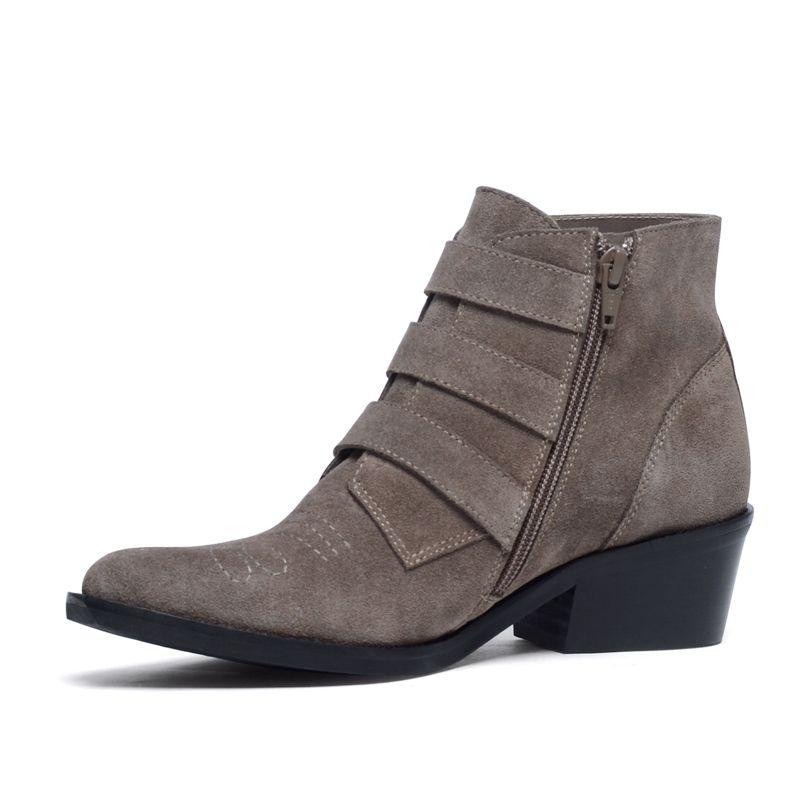 Taupefarbene Buckle Boots