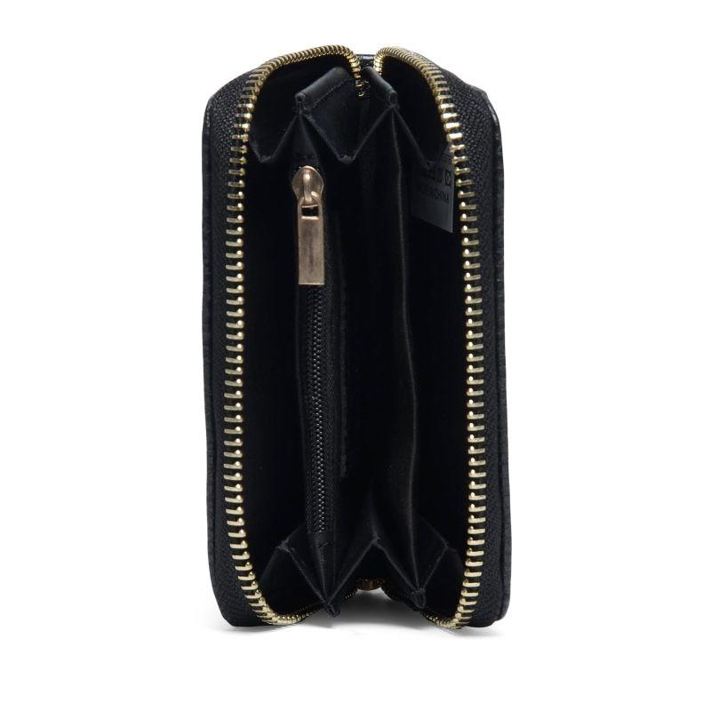 Portemonnee zwart met gouden rits