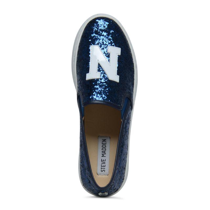 Steve Madden ONL NY blue glitter slip ons