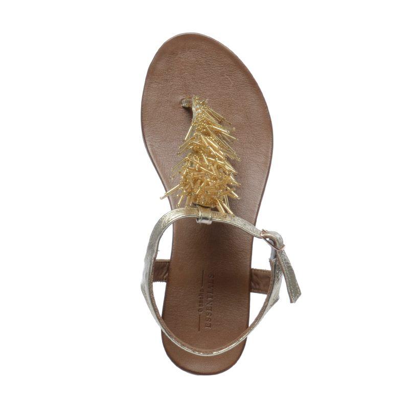 Goldene Sandaletten mit Perlen