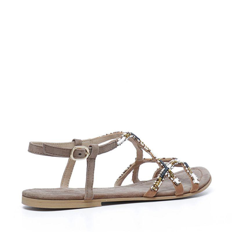 Sandales avec perles - marron