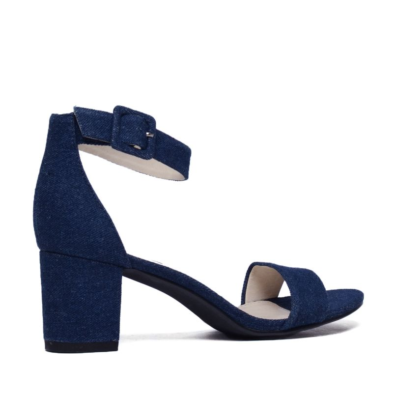 Sandales à talon - denim