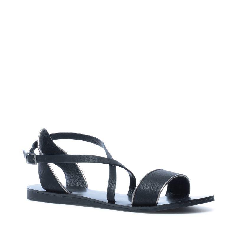 Sandalen zwart met zilver