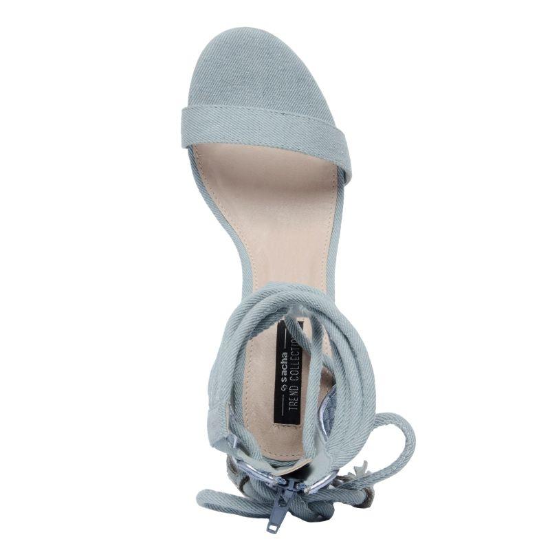 Blaue Sandaletten