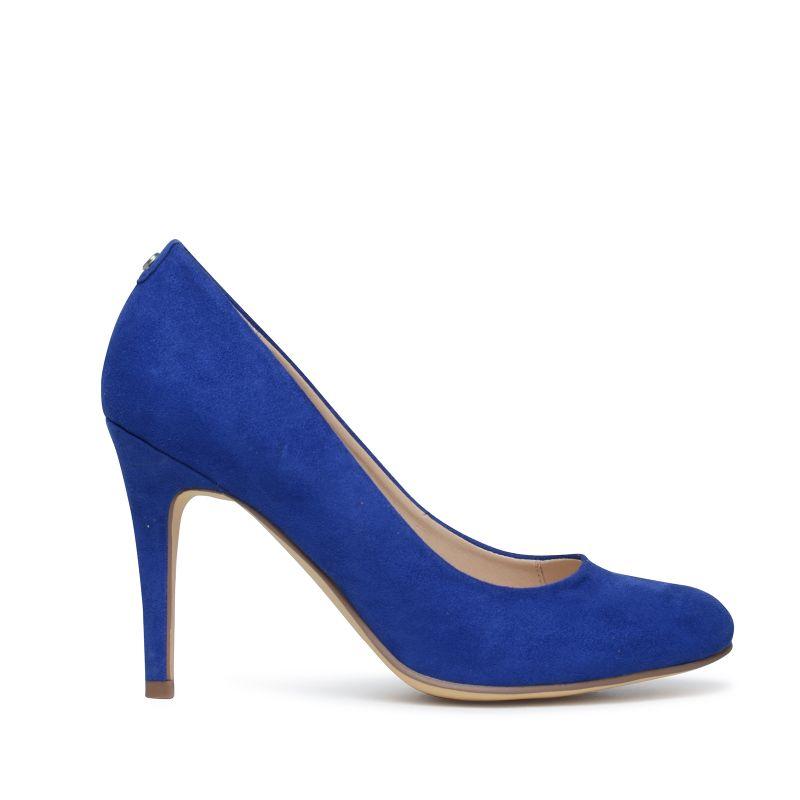 Blauwe pumps