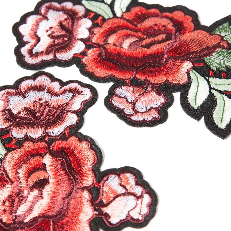 Patches met bloemen 2 stuks