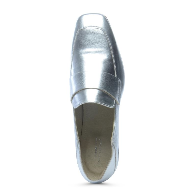 Penny loafers metallic
