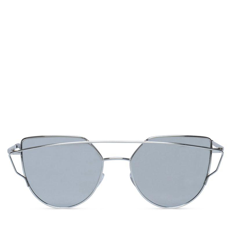 Zonnebril met spiegelglazen zilver