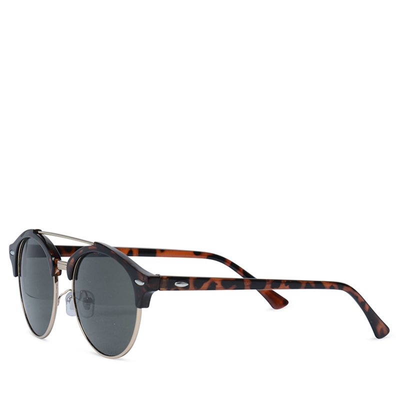 Ronde zonnebril luipaard