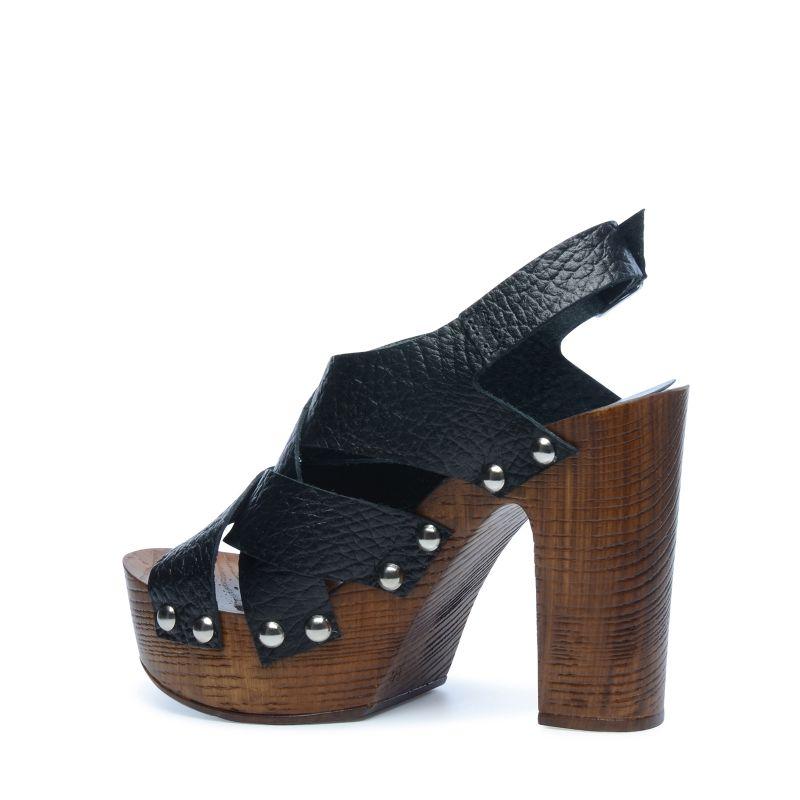 Chunky Sandaletten mit Blockabsatz schwarz
