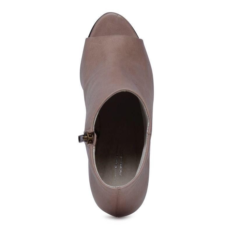 Bottines peep toe - nude