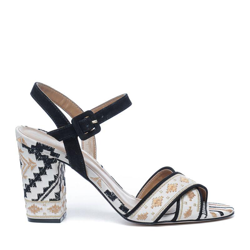 Sandalen met hak print