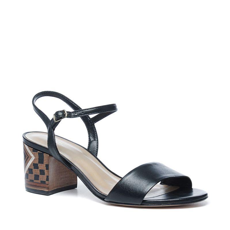 Sandalen met hak zwart
