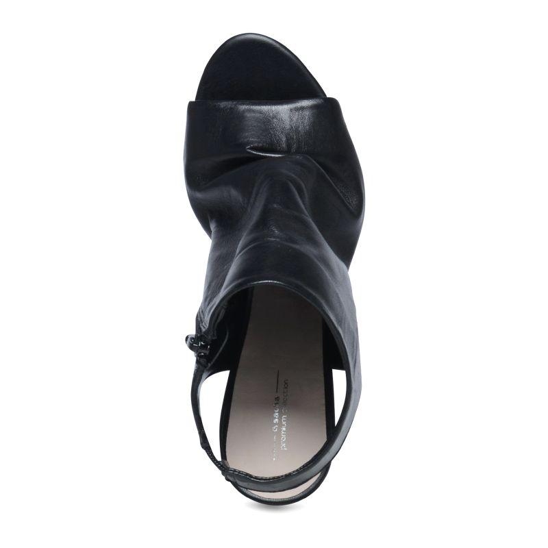 Sandales fermées avec peep toe - noir