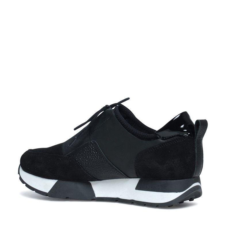 Platform sneakers zwart