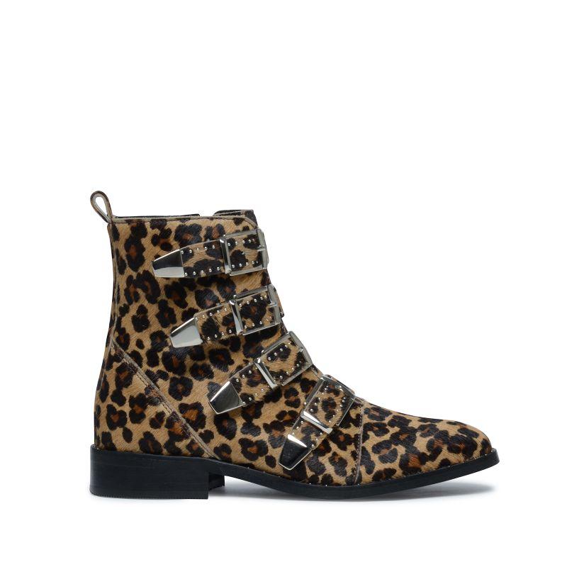 Bottines à boucles - imprimé léopard