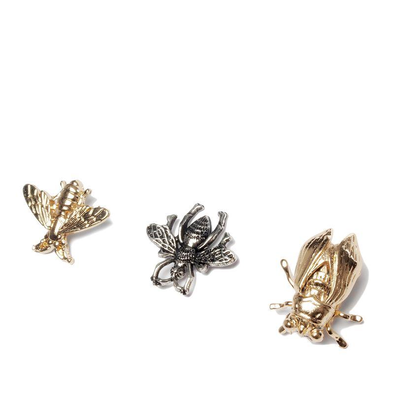 Set von 3 Insekten-Ansteckern