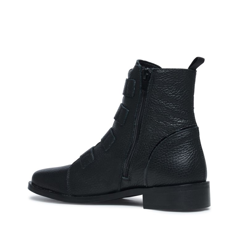 Bottines à boucles - noir
