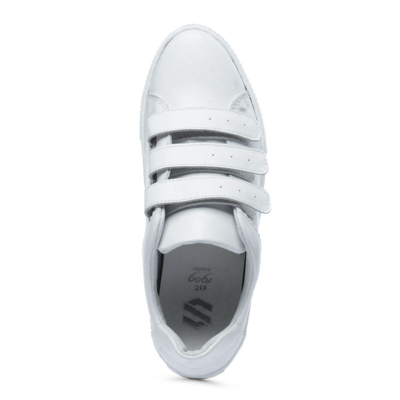 Witte sneakers met klittenband