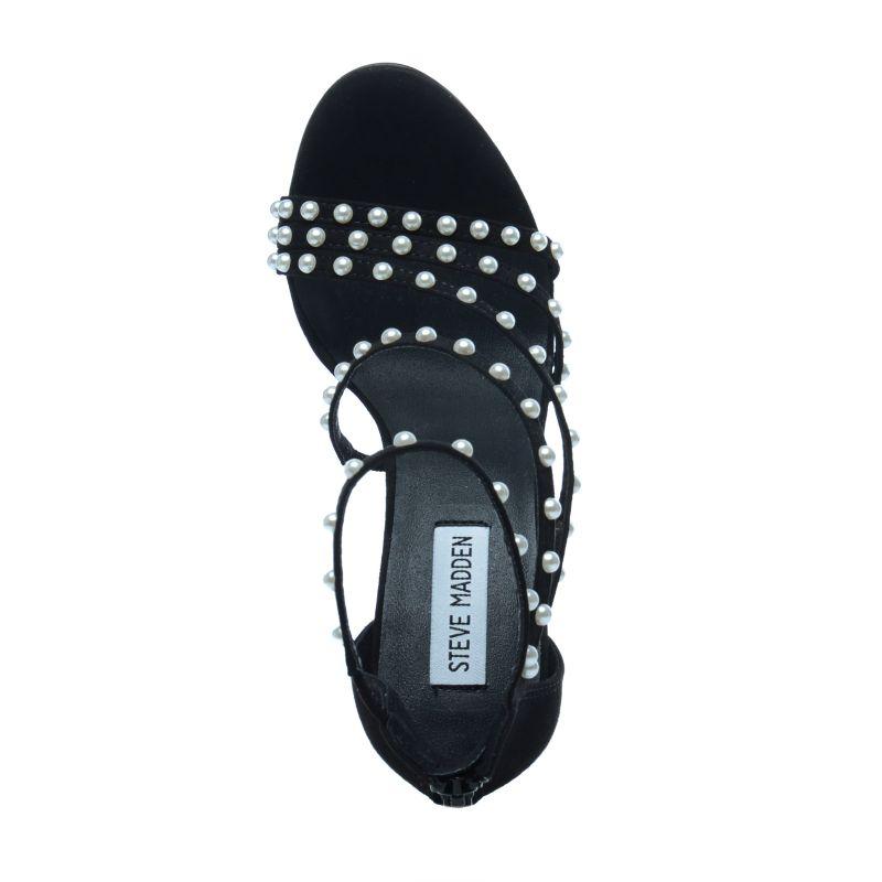 Steve Madden Sandaletten mit Perlen schwarz