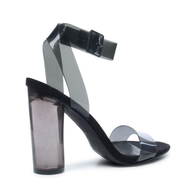 Steve Madden Sandaletten transparent schwarz