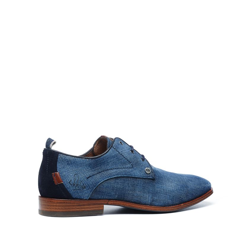 REHAB Greg denim veterschoenen