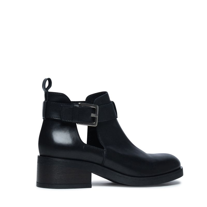 Zwarte cut-out boots