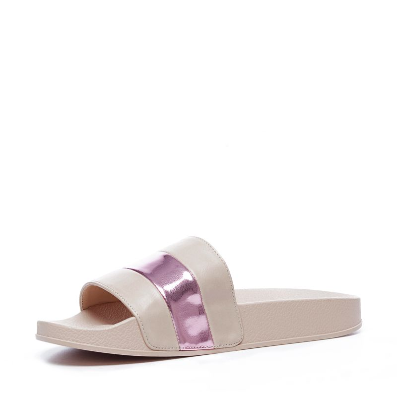 Slippers metallic roze