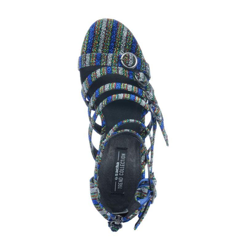 Sandalen met hak glitter