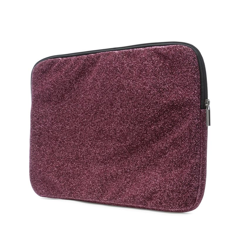 Laptophoes fuchsia met glitters (16 inch)