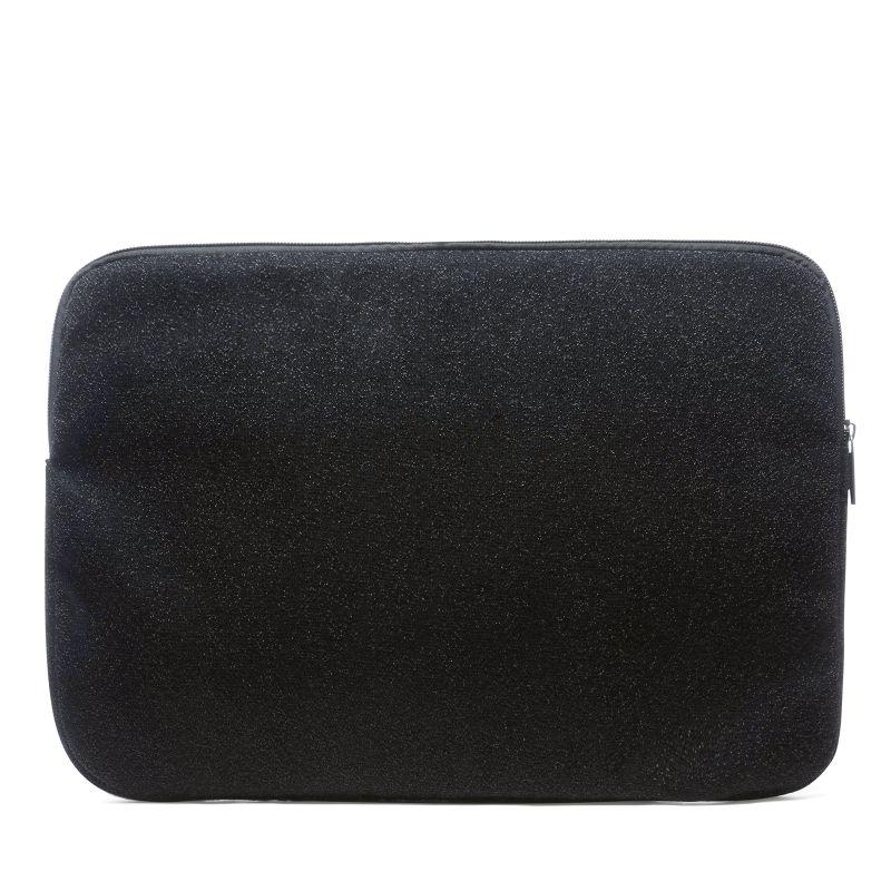 Laptophoes zwart met glitters (16 inch)